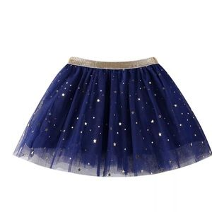 Navy a Blue Tutu with gold stars